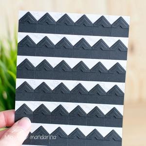 108 Etiquetas adhesivas negras