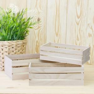 3 cajas madera fruta