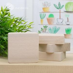 Bloque madera 10x10cm