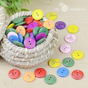 5 botones arboles 20mm