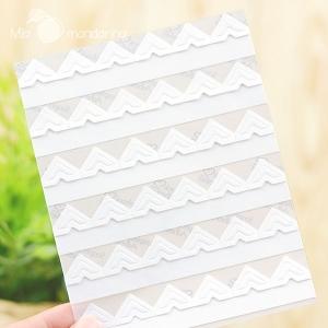 108 Etiquetas adhesivas blancas