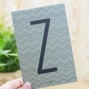 1 Postal Letra Z Dailylike