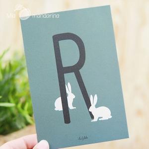 1 Postal Letra R Dailylike