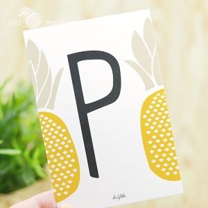 1 Postal Letra P Dailylike