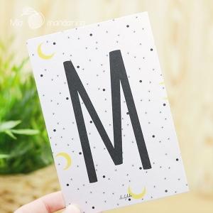1 Postal Letra M Dailylike