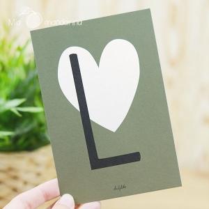 1 Postal Letra L Dailylike
