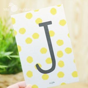 1 Postal Letra J Dailylike