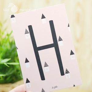 1 Postal Letra H Dailylike
