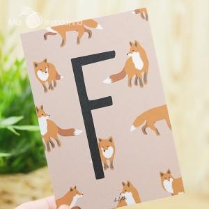 1 Postal Letra F Dailylike
