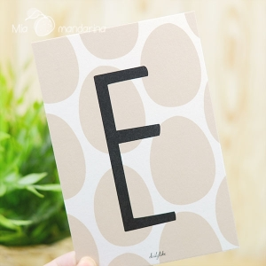 1 Postal Letra E Dailylike