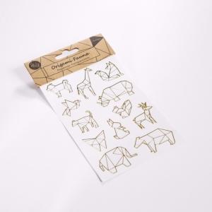 3 x Pegatinas Origami doradas