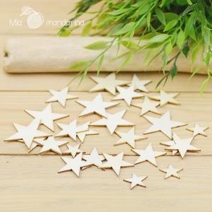 Surtido 10 estrellas madera