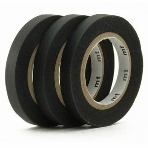 3 Slim Black Washi Tape mt