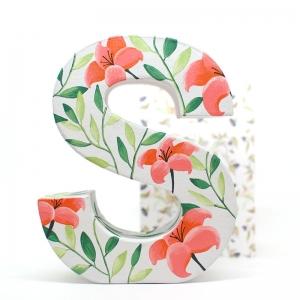 RESERVA Letra cartón decorada