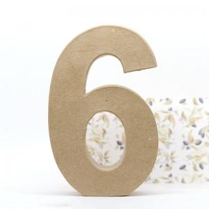 Número 6 cartón craft