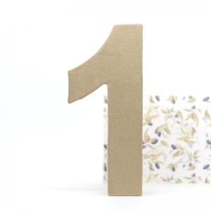 Número 1 cartón craft