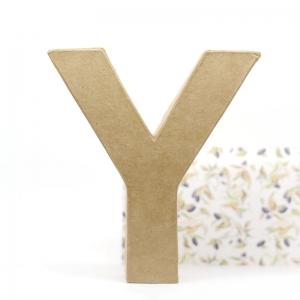 Letra Y cartón craft