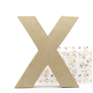 Letra X cartón craft