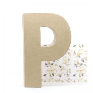 Letra P cartón craft