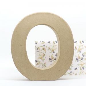 Letra O cartón craft