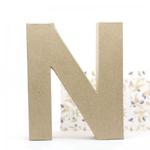 Letra N cartón craft