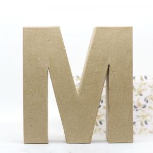Letra M cartón craft