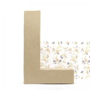 Letra L cartón craft