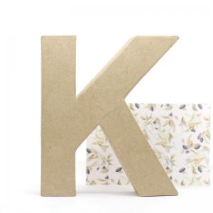 Letra K cartón craft