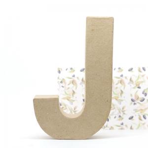 Letra J cartón craft