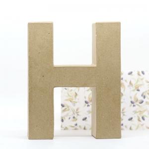 Letra H cartón craft