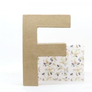 Letra F cartón craft