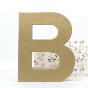 Letra B cartón craft