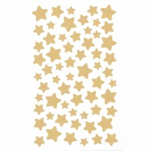 4 hojas con 62 pegatinas estrellas doradas