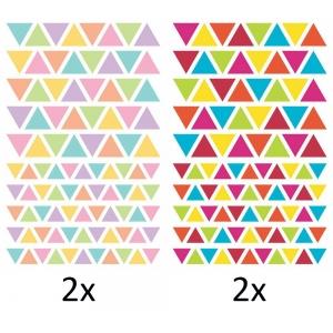 4 hojas Pegatinas Initial Triángulos